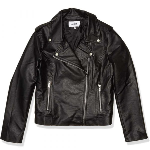Black Leather Biker Jacket Womens