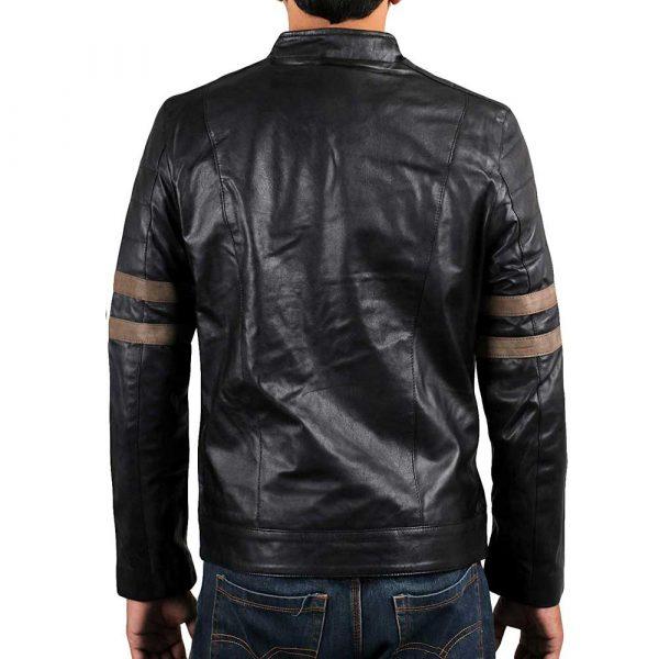 Genuine lambskin leather mens jacket