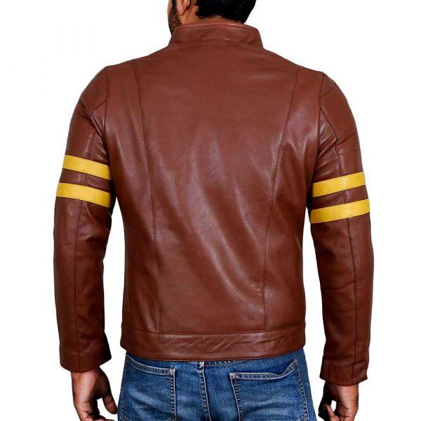 Genuine tan lambskin leather mens jacket