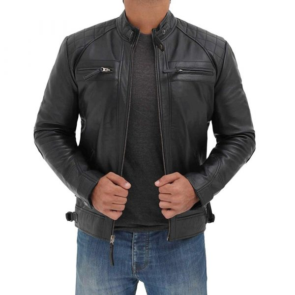 distressed leather motorcycle jacket mens