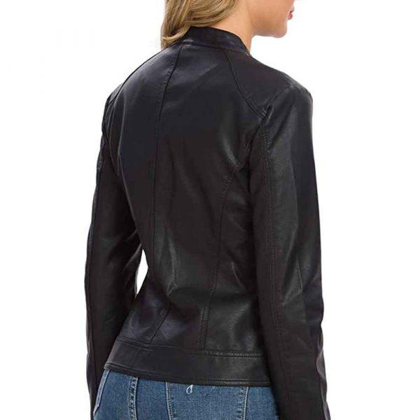 women's genuine leather motorcycle jacket